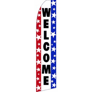 Welcome/Bienvenidos Feather Banner Flag