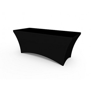 Black Stretch Table Covers 6ft