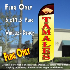 Tamales Windless Polyknit Feather Flag (3 x 11.5 feet)