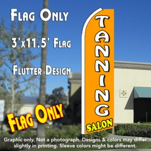 TANNING SALON (Orange) Flutter Feather Banner Flag (11.5 x 3 Feet)