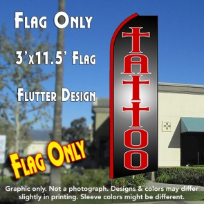 bad ass tattoo feather banner flag for your business