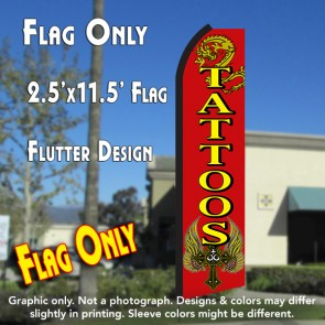 tattoos feather banner flag