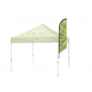 Tent Angled Feather Flag Small  FREE GROUND SHIPPING Next Day Print