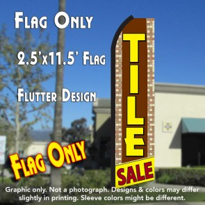 TILE SALE (Brown/Yellow) Flutter Polyknit Feather Flag (11.5 x 2.5 feet)
