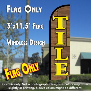 Tile Windless Polyknit Feather Flag (3 x 11.5 feet)