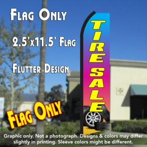TIRE SALE (Gradient) Flutter Polyknit Feather Flag (11.5 x 2.5 feet)