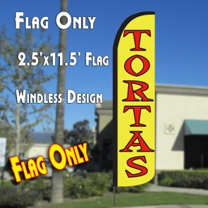 TORTAS Windless Polyknit Feather Flag (2.5 x 11.5 feet)
