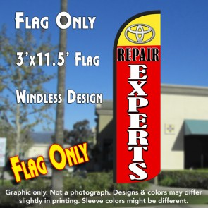 Toyota Repair Experts Windless Polyknit Feather Flag (3 x 11.5 feet)