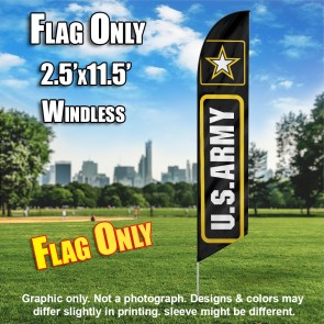 ARMY Flutter Feather Banner Flag (11.5 x 2.5 Feet)