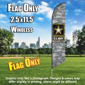 ARMY with camo Flutter Feather Banner Flag