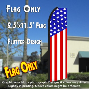 USA American (Vertical Classic) Flutter Polyknit Feather Flag (11.5 x 2.5 feet)