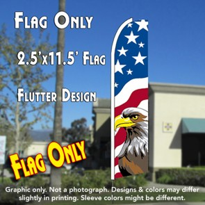 USA NEW GLORY (Eagle) Flutter Feather Banner Flag (11.5 x 2.5 Feet)