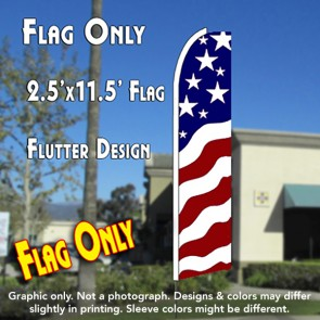 USA NEW GLORY Flutter Feather Banner Flag (11.5 x 2.5 Feet)