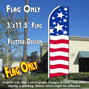 USA PRIDE Flutter Feather Banner Flag (11.5 x 3 Feet)