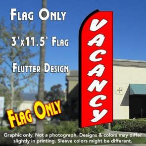 VACANCY  (11.5 x 3) Feather Banner Flag