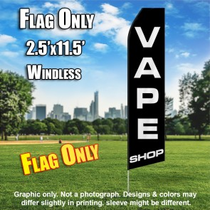 VAPE SHOP (Black) Econo Feather Banner Flag