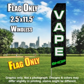 VAPE SHOP (Black/GREEN) Econo Feather Banner Flag