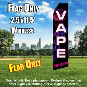 VAPE SHOP (Black/PINKSMOKE) Econo Feather Banner Flag