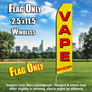 VAPE SHOP (YELLOW/RED) Econo Feather Banner Flag