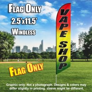 VAPE SHOP (Yellow/Green/Red) Windless Flutter Feather Banner Flag