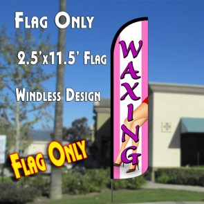 Waxing (Pink) Windless Polyknit Feather Flag (2.5 x 11.5 feet)