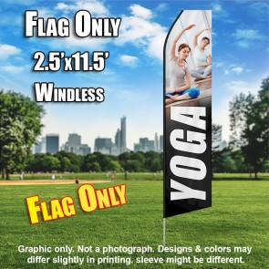 YOGA white flutter flag