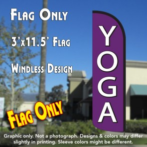 yoga windless polyknit feather flags