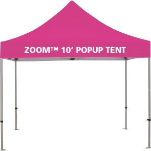 Custom Printed Zoom 10 Popup Tent