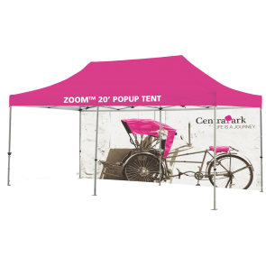 Custom Printed Zoom 20 Popup Tent - Full Wall Only