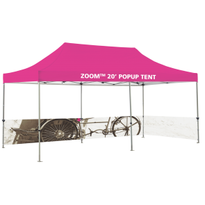 Custom Printed Zoom 20 Popup Tent - Half Wall Kit Only