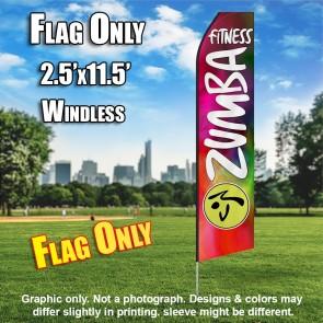 ZUMBA FITNESS multicolor white flutter flag