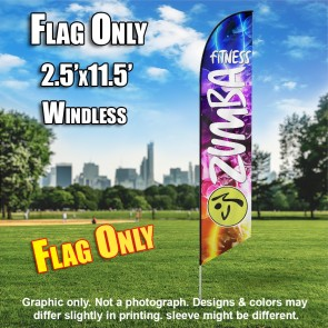 ZUMBA FITNESS Feather Banner Flag Party Colors
