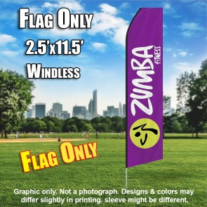 ZUMBA FITNESS  Feather Banner Flag Only