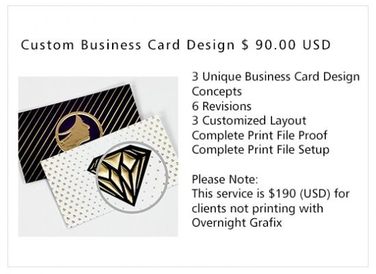 Business card design services overnight grafix custom business card design reheart Gallery