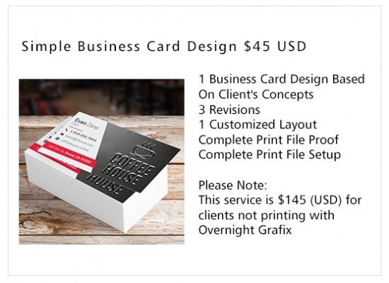Business card design services overnight grafix simple business card design colourmoves