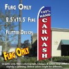100% HAND CAR WASH (Blue/Red) Flutter Feather Banner Flag (11.5 x 2.5 Feet)