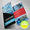"5000 Brochure 8.5"" x 11"" 100 Lb. Gloss Book Tri-Fold"