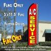 A/C SERVICE (Checkered) Flutter Feather Banner Flag (11.5 x 3 Feet)
