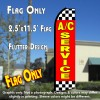 A/C SERVICE (Red/Checkered) Flutter Polyknit Feather Flag (11.5 x 2.5 feet)