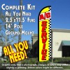 A/C SERVICE (Yellow/Checks) Windless Feather Banner Flag Kit (Flag, Pole, & Ground Mt)