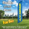 A/C Repair (Blue/Yellow) Windless Polyknit Feather Flag Only (3 x 11.5 feet)