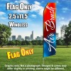 Air Brush (Red/Blue/Cursive) Flutter Feather Flag Only (3 x 11.5 feet)
