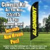 Alignment (Black/Yellow) Windless Feather Banner Flag Kit (Flag, Pole, & Ground Mt)