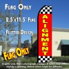 ALIGNMENT (Red/Checkered) Flutter Polyknit Feather Flag (11.5 x 2.5 feet)