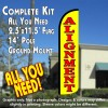 ALIGNMENT (Yellow) Windless Feather Banner Flag Kit (Flag, Pole, & Ground Mt)