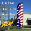 USA AMERICAN BEAUTY Windless Polyknit Feather Flag (2.5 x 11.5 feet)