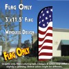 AMERICAN GLORY Windless Polyknit Feather Flag (3 x 11.5 feet)