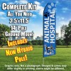 ANIMAL HOSPITAL BLUE feather flags econo banner swooper kit