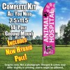 ANIMAL HOSPITAL pink feather flags econo banner swooper kit