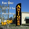 ANTIQUES (Black) Windless Feather Banner Flag (2.5 x 11.5 Feet)